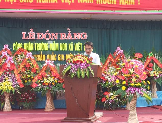 Phat bieu cua dong chi Nguyen Van Luc- Pho chu tich UBND huyen Thanh Ha